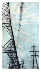 pylon 4 pale firework. on IJ - 0504 Inbe (extra thick) print on both sides Awagami