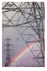 pylon 5 rainbow on IJ-1314 Bamboo paper 250g inkjet A4 print on both sides, Awagami